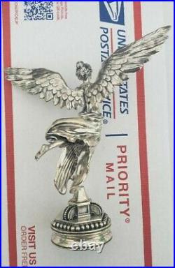 12 oz Silver Antique Finish Mexican Libertad Statues Box CoA