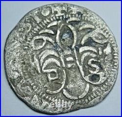 1474-1504 Ferdinand and Isabella Spanish Silver 1/2 Reales Antique Columbus Coin