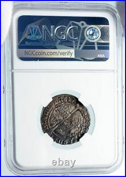 1543 IRELAND UK King Henry VIII ANTIQUE Old IRISH Silver 4 Pence NGC Coin i85318