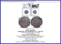 1596 POLAND DANZIG King Sigismund III ANTIQUE Silver 6 Groszy Coin NGC i87858