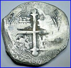 1618-1621 Shipwreck Spanish Mexico Silver 8 Reales Antique 1600s Pirate Cob Coin