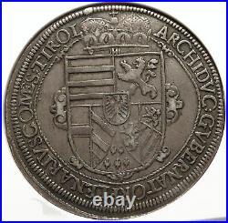 1623 AUSTRIA King LEOPOLD V Antique OLD Silver Thaler Austrian Coin NGC i83715