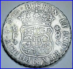 1735 Shipwreck Spanish Mexico 8 Reales 1700's Antique Silver Dollar Pirate Coin