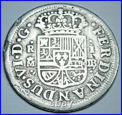 1755 Spanish Silver 1 Reales Genuine Antique 1700s Colonial Pirate Treasure Coin