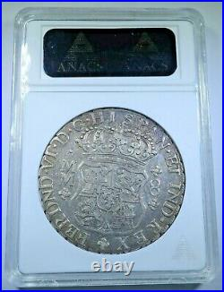 1760 XF-45 Mexico Silver 8 Reales Antique 1700's Old Colonial Pillar Dollar Coin