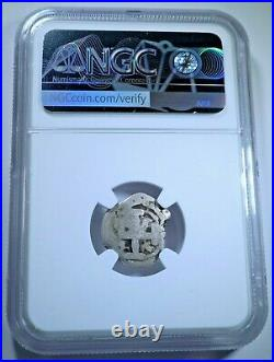 1763 Spanish Bolivia Silver 1 Reales NGC Graded Antique Colonial Pirate Cob Coin