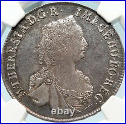 1765 AUSTRIA Maria Theresia Antique Silver 1/2 Thaler Austrian Coin NGC i83709