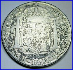 1777 Spanish Mexico Silver 8 Reales Antique Colonial 1700's Dollar Pirate Coin