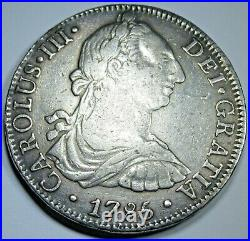 1785 FM VF-XF Spanish Silver 8 Reales Antique 1700's Colonial Dollar Pirate Coin