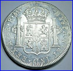 1796 Spanish Mexico Silver 8 Reales Antique XF-AU 1700's Colonial Dollar Coin
