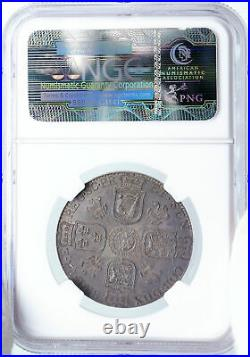 1799 GREAT BRITAIN UK King George III ANTIQUE Silver 1/2 Crown Coin NGC i88857