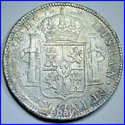 1809 AU Mexico Silver 8 Reales Antique 1800s Spanish Colonial Silver Dollar Coin