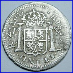 1820 AG-Z Zacatecas Mexico Silver 1/2 Reales XF-AU Details Antique Colonial Coin