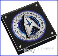 2-coin-set 2019 Star Trek STARFLEET COMMAND EMBLEM Antiqued Silver $1$2 3oz MS69