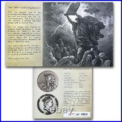 2015 Biblical Series Ten Commandments 2 oz Silver Antiqued Coin With OMP & COA