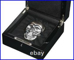 2017 $25 Palau Big Skull High Relief 1/2 Kilo Silver Antiqued Gem Proof Coin