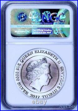 2017 P Norse Goddesses Freya HIGH RELIEF ANTIQUED 2Oz Silver $2 COIN NGC PF70 ER