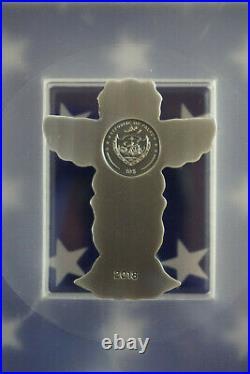 2018 $10 Palau Totem Pole 2oz. 999 Silver Antiqued Coin PCGS MS70 FDI COA+Box