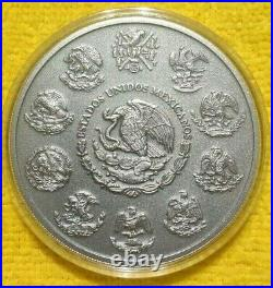 2018 5 oz Silver Libertad ANTIQUE! Coin in Capsule Mintage of 2,000 ONLY