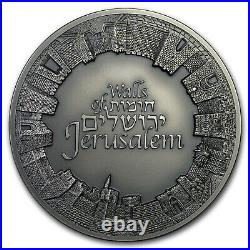 2018 Israel 3 oz Silver Walls of Jerusalem Antique Finish SKU#179427