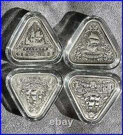 2019-2021 Australia Shipwreck Series Complete Set 4x1 oz Silver Antiqued Coins