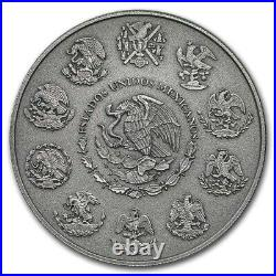 2019 Mexico Libertad 2oz 999 Silver Antique Finish Low Mintage of 1000 Worldwide
