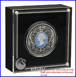 2019 Queen Victoria 200th Anniversary 2oz Silver Antiqued Cameo Coin NGC MS69 FR