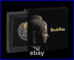 2020 Cameroon 2000 Francs Ancient Buddha 2 oz Silver Antiqued Coin 500 Made