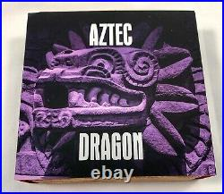 2020 Niue AZTEC DRAGON 2oz UHR Antiqued Silver Coin with AZURITE Only 500 Made