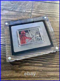 2020 Niue Star Wars Praetorian Guard 1 oz. 999 Silver Coin Antiqued COLORIZED