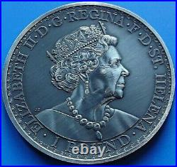 2020 ST HELENA Una And The Lion East India Company Silver Antique 1oz Coin
