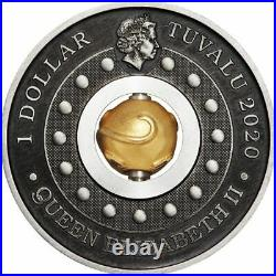 2020 Year Of The Mouse Rotating Charm 1oz Silver Antiqued Coin