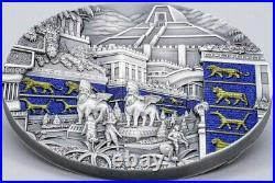 2021 2 Oz Silver $10 Palau Lost Civilizations BABYLON Antique Finish Coin