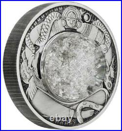 2021 2oz Silver Antiqued Coin Tears of the Moon