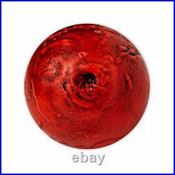 2021 Barbados Mars Spherical 1oz Silver Colorized Antiqued $5 Coin BU PRESALE