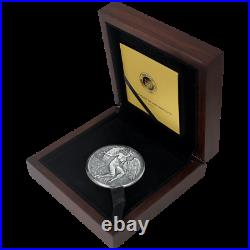 2021 Cameroon Celestial Beauty Fortuna 2 oz Silver Antiqued Coin 500 Made