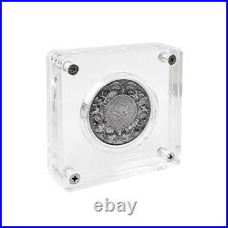 2021 Chad 2 oz Silver Mermaid & Unicorn Mythical Creatures Antiqued Coin (withBox)