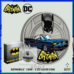 2021 Niue DC Comics Batman Batmobile 1966 1 oz. 999 Silver Coin 1st in Series