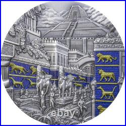 2021 Palau $10 Lost Civilizations Babylon Antiqued 2 oz Silver Coin 555 Made