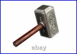 2021 Solomon Islands Thor's Hammer 500 g Silver Antiqued $10 Coin GEM BU in Box