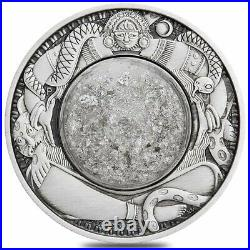 2021 Tuvalu 2 oz Antiqued Silver Tears of the Moon Coin. 9999 Fine (withBox & COA)