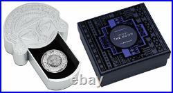 2021 Tuvalu Tears of the Moon 2 oz Silver Antiqued $2 Coin GEM BU PRESALE