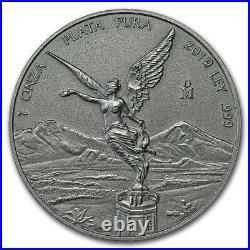 ANTIQUE LIBERTAD MEXICO 2019 1 oz Silver Coin in Capsule