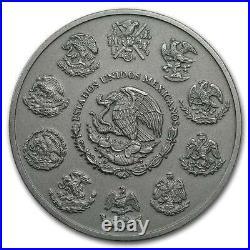 ANTIQUE LIBERTAD MEXICO 2019 5 oz Silver Coin in Capsule