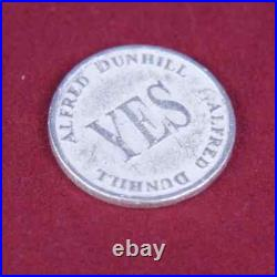 Alfred Dunhill Collectors Hallmarked Solid Sterling Silver Decision Coin Yes-No
