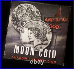 American Gods Moon Shadow's Liberty Head 1 oz. 999 Silver Antiqued Coin WithOMP