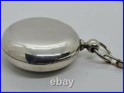 Antique 1877 ROCKFORD Victorian 15J Coin Silver Key Wind Pocket Watch 18s Works