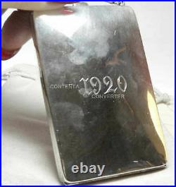 Antique 1920 Sterling Silver Powder Coin Mirror Purse & 5 Chain
