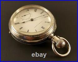 Antique E. Howard Pocket Watch Coin Silver Case 18 Size Key Wind Key Set