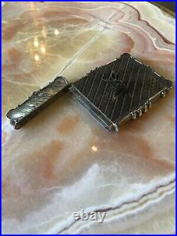 Antique Fancy Coin Silver Calling Card Case